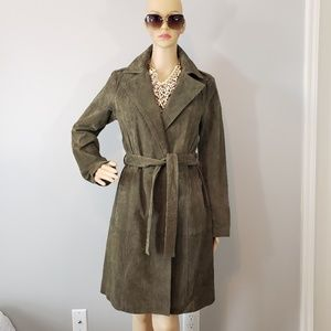 NWT Forever21 Pigskin Leather Trench Coat